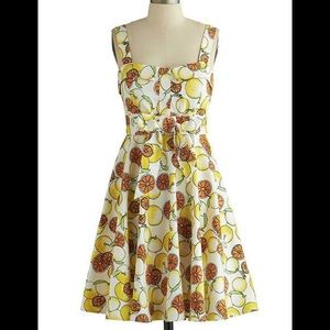 "NWT MODCLOTH ""Pull up a cherry"" dress in citrus!!!"